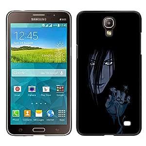 LECELL--Funda protectora / Cubierta / Piel For Samsung Galaxy Mega 2 -- Mal Chica Anime --