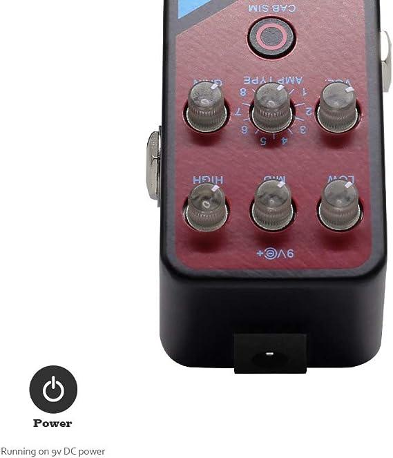 Valeton Coral Amplificador de preamplificador Amplificador digital Modelador Pedal de efectos de guitarra