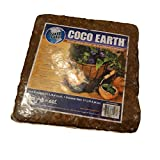 Coco Earth 5kg Coconut Coir Compressed Brick - Great for Container Gardens, Hydroponics, Worm Composting Bins, and More