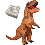 T-Rex Dinosaur Inflatable Toys Costume Halloween Blow up Suit Airblown Inflatable Christmas Yard Decoration