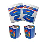 """Hot Wheels PlayTape 2 Pack Blue 30'x1.75"""" - Road Car Tape Great for Kids, Sticker Roll for Cars and Train Sets, Stick to Floors and Walls, Quick Cleanup, Children Toys Birthday Gift"""