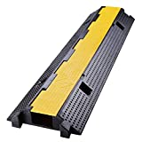 Yescom Medium Rubber Electrical Wire Cover Ramp Guard Warehouse Cable Cord Protector