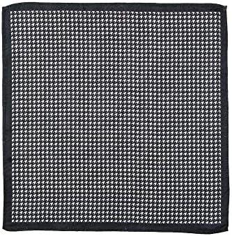 (ザ・スーツカンパニー) ジャカード織り シルクポケットチーフ オフホワイト×ブラック