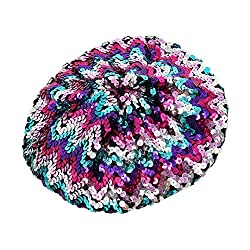 Classic Sparkle Multi-Color Sequin Beret Hat