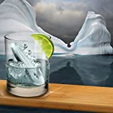 Adarl Ice Cube Maker Genie Silicone,Ice Cube Tray 3D Titanic Ice Mold for Chilling Burbon Whiskey,Cocktail,Ice Genie Kitchen Tools