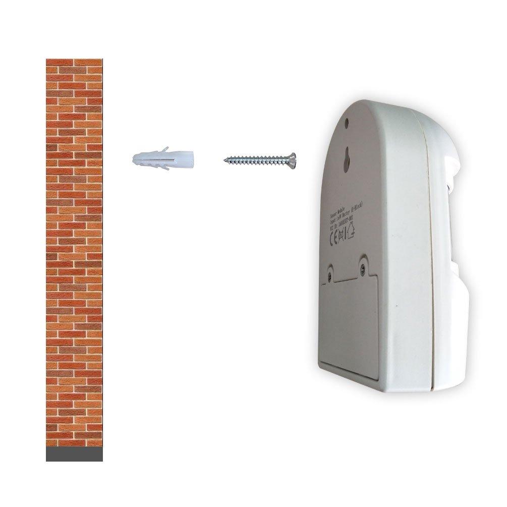 4VWIN S/écurit/é /à domicile Inalarme sans fil Alarme 1 R/écepteur et 1 d/étecteur de capteur de mouvement PIR Kit de syst/ème dalerte infrarouge
