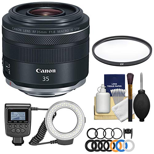 Canon RF 35mm f/1.8 Macro is STM Lens with LED Ring Light &