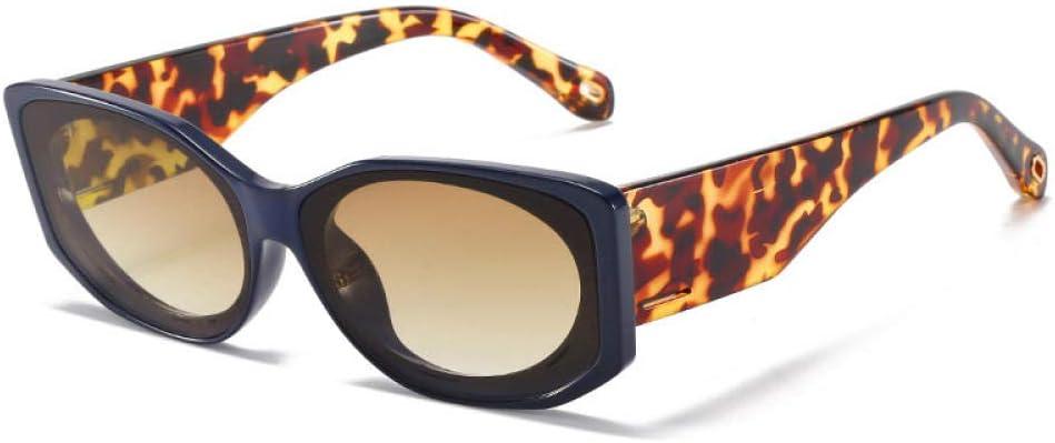 HPPSLT Estilo Vintage Redondo Gafas Sol polarizadas para Hombres y Mujeres, Gafas de Sol Irregulares de Hombres y Mujeres de Personalidad Europea y Estadounidense
