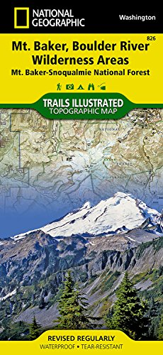 Mount Baker and Boulder River Wilderness Areas [Mt. Baker-Snoqualmie National Forest] (National Geographic Trails Illustrated Map)