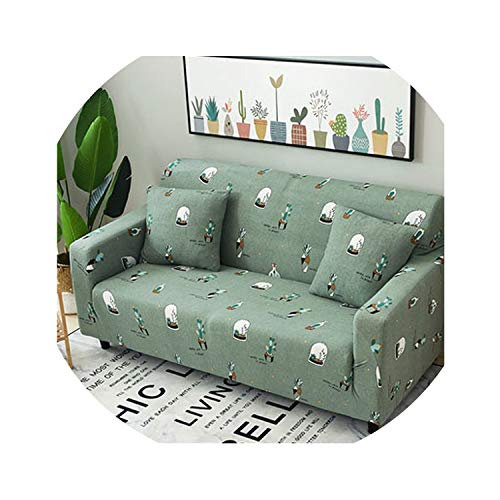 beautiful plus Leaves Pattern Sofa Covers Elastic Stretch Sectional Throw Couch Corner Cover Cases for Furniture Armchairs Home Deco,7,Four seat Sofa