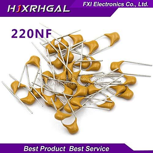 Value-Trade-Inc - 100PCS 220NF 0.22UF 20% 5.08MM 224 50V MLCC multilayer monolithic ceramic capacitor 0805 New original