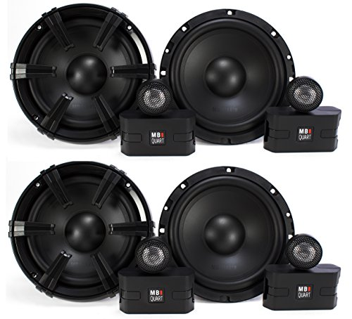 "4 MB Quart 6.5"" 90 Watt Component Speakers Speaker System Set Four| DC1-216"