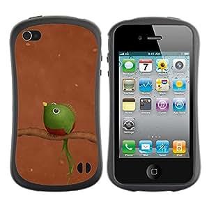 Hypernova Slim Fit Dual Barniz Protector Caso Case Funda Para Apple iPhone 4 / iPhone 4S [ Verde]