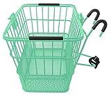Treasure Gifts Mesh Bottom Lift-Off Basket w/Bracket, Mint Green