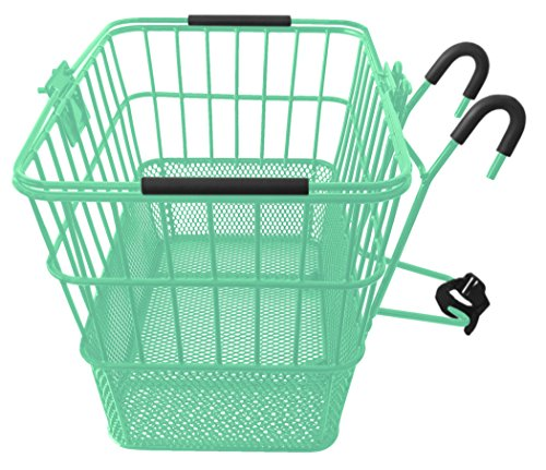 Mesh Bottom Lift-Off Basket w/ Bracket, Mint Green