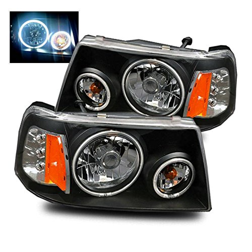 SPPC Black Crystal Headlights Assembly Set with ()