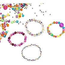 DIY Alphabet Beads & Charms Personalized Friendship Bracelet & Necklace Jewelry Making Kit