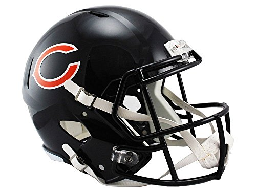 (Riddell NFL Chicago Bears Full Size Replica Speed Helmet, Medium, Blue)