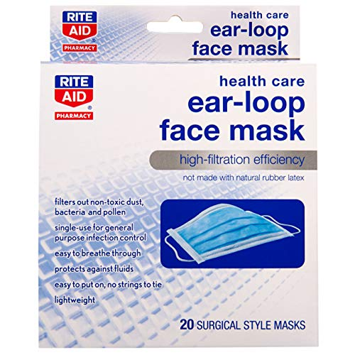 Rite Aid Health Care Ear-Loop Face Mask - 20 ct from Rite Aid