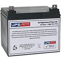 UPSBatteryCenter® Compatible Replacement 12V 35Ah Battery with Nut & Bolt Terminals for Light Trolling Motor Sevylor…