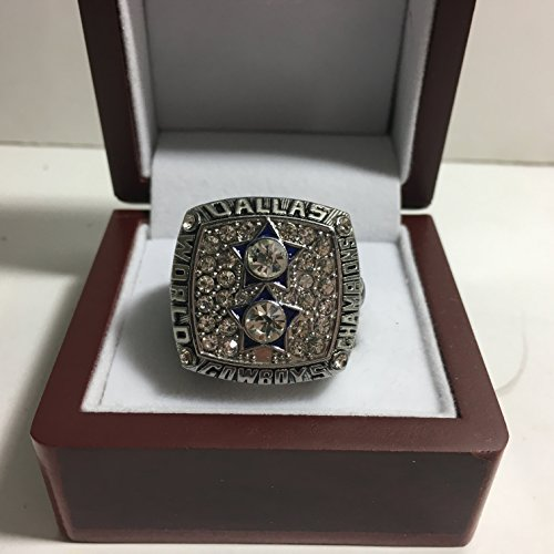 1977 Roger Staubach Dallas Cowboys High Quality Replica Super Bowl XII Ring Size 10.5-Silver Colored