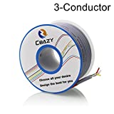 CBAZY™ 2547 24 AWG Control Cable Copper Wire Shielded Audio Cable Headphone Cable Signal Line 3-core 6 Meter Grey