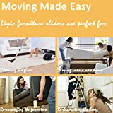 "8-Pack Felt Furniture Slider for Hard Surfaces, 4-Pack 9"" X 2.5"" Reusable Rectangle Felt Furniture Sliders and 4 Pack- 3.5"" Felt Furniture Movers,Furniture Mover, Premium Furniture Moving Sliders"