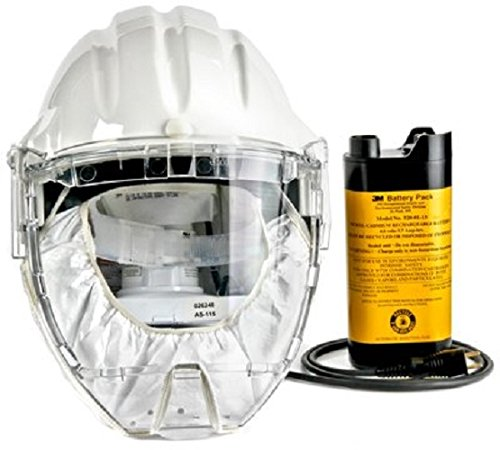 (3M Airstream Headgear-Mounted Powered Air Purifying Respirator (PAPR) System, Respiratory Protection AS-400LBC, NiCd Rechargeable Battery)