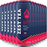 Sparkling Energy Tea - Masala Chai - Ice Tea With As Much Caffeine As Coffee And No Crash - Low Calories & Low Sugar - 12 x 12oz - 137mg Caffeine Per Can