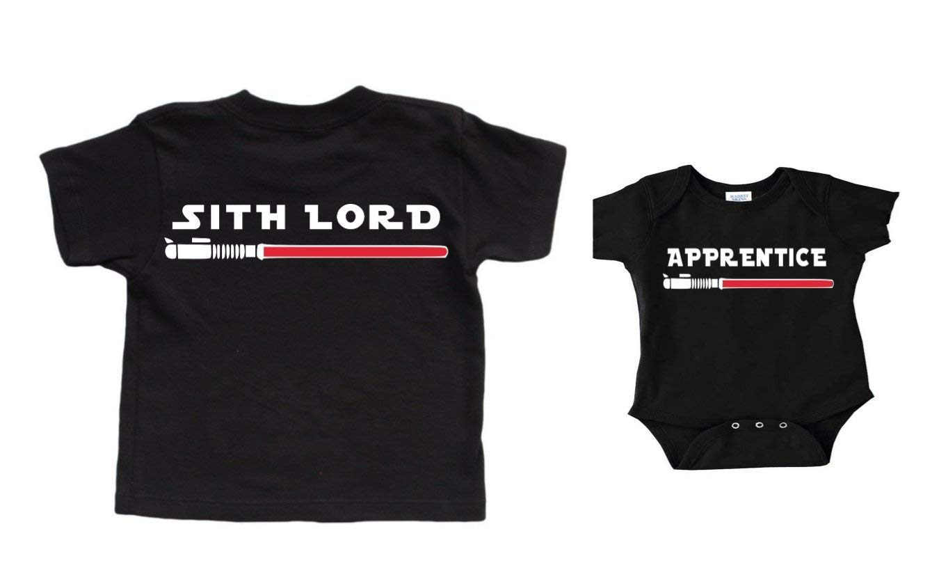 Christmas Gifts Star Wars Shirt Sith Lord Apprentice Father's Day Shirt From Son Matching Shirts Personalized New Dad Gift From Baby