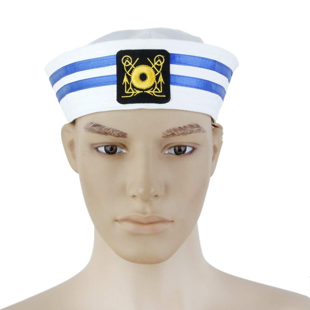 Kytree Yacht Boat Captain Cosplay Hat-Sailor Hat Skipper Navy Marine Cap Costume Party Dress