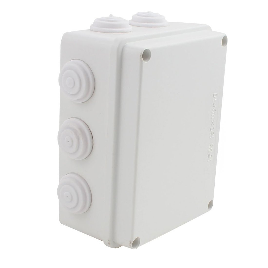 YXQ 150mmx110mmx70mm IP65 Waterproof Junction Box Electric Project Enclosure-Rectangle Power Case with Holes(5.9'' x 4.3'' x 2.8'')