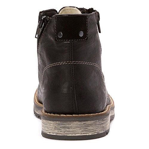 Rieker Mens Robbie 32 Boots Nero Palma / Nero Virage