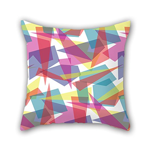 NICEPLW The Geometry Cushion Covers Of ,20 X 20 Inches / 50 By 50 Cm Decoration,gift For Car,office,seat,teens Girls,deck Chair,bedding (each Side)