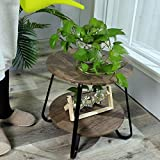 Rustic End Table Industrial Sofa Side Table for