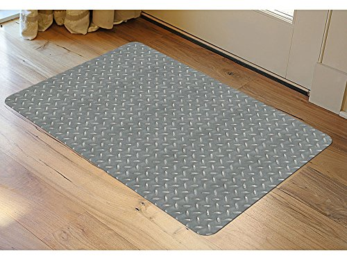Garage Floor Covering Diamond Steel Pattern Mat 36 W x 23 D by Bungalow