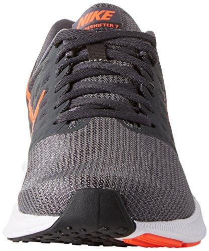 Nike Heren Downshifter 7 Hardloopschoen Donker Grijs Crimson Anth Blk