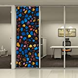 HOHO 3D Painting Static Window Film Privacy Electrostatic Cling Cover Stained Flower Window Glass Stickers Home D¨¦cor,92cmx2500cm