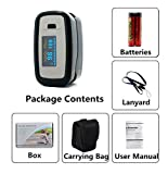 Nubee® NUB-50D1 Pulse Oximeter Finger Pulse Blood Oxygen SpO2 Monitor w/ carring case, landyard & Battery FDA CE Approved