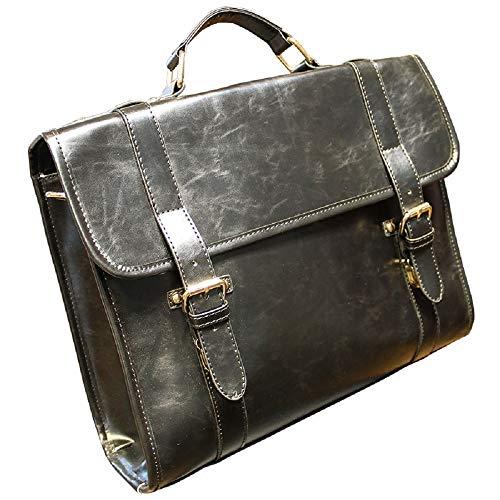 Messenger Bag Bolso Ocio Maletín Hombres Wraparound Vintage para Negro Bag Bolsa Paquete ZHRUI Shoulder Bolso Negro 1 de Zpxf7qzP