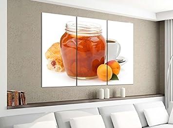 Orangenmarmelade mit Orangen Leinwandbild Wanddeko Kunstdruck