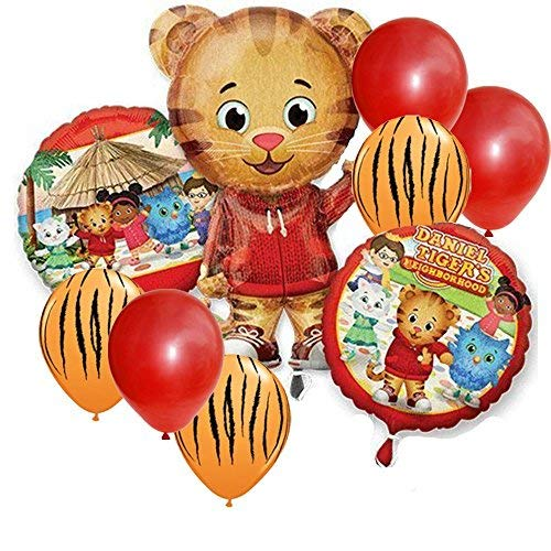 Daniel Tiger Jumbo Shape Party Balloon Set - 9 pc