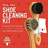3pc Shoe Shine Kit - Shoe Brush and Microfiber
