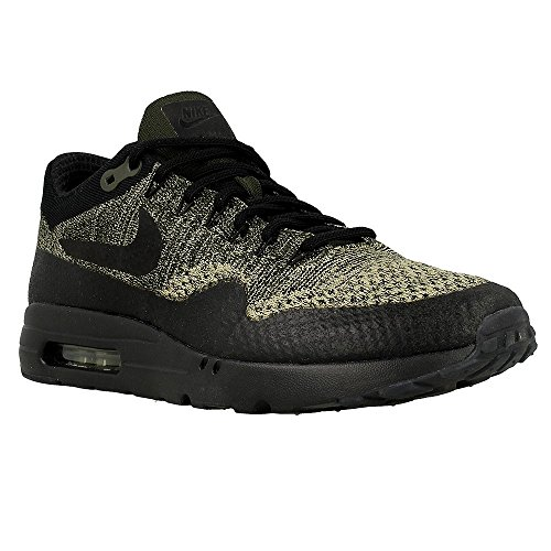 NIKE Air Max 1 Ultra Flyknit Men's Shoes Neutral Olive/Black/Sequoia 856958-203 (12 D(M) US)