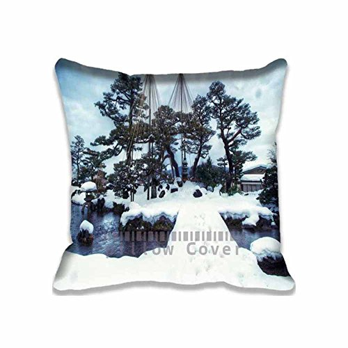 Kenrokuen Garden (Excellent Cute and Beautiful Throw Pillow Case Lovely Pillow Sham with Zipper For Children's Gift,Asia/Japan Kenrokuen Garden Winter20x20inch)