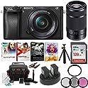 Sony Alpha a6300 24.2MP 4K UHD Camera w/ 16-50mm & 55-210 Holiday Kit