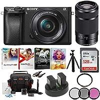 Sony Alpha a6300 24.2MP 4K Ultra HD Mirrorless Digital Camera (Black) w/ 16-50mm & 55-210 Holiday Kit