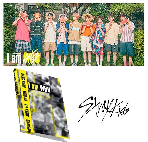 Price comparison product image KPOP 2nd Mini Album [I am ver.] STRAY KIDS I am WHO CD + Official Poster + Blooklet + 3 Photo Cards + Lyrics Poster + Extra Gift