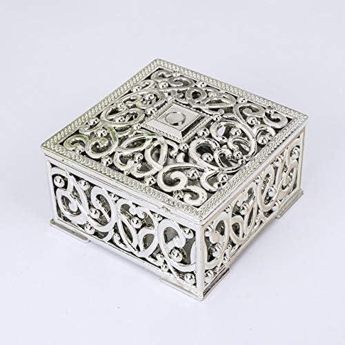 XYao Cajas para Caramelos, Cajas de Regalo cuadradas de Plata ...