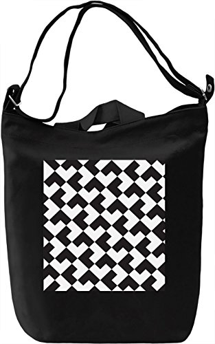Geometrical Print Borsa Giornaliera Canvas Canvas Day Bag| 100% Premium Cotton Canvas| DTG Printing|